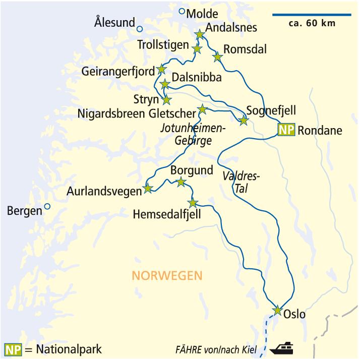 Tour Landkarte